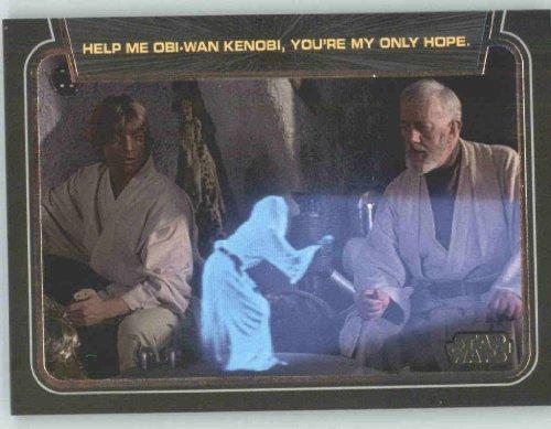 スターウォーズ 2012 Star Wars Galactic Files Classic Lines #CL1 Help Me Obi-Wan Kenoibi - Princess Leia レイア (Non-Sport Collectible Trading Cards) [並行輸入品]