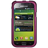 Amzer Rubberized Snap On Crystal Hard Case for Samsung Galaxy S I9000 - Purple