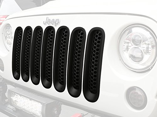 [Upgrade Clip-in Version] u-Box Matte Black Front Grill Mesh Grille Insert Kit for Jeep Wrangler Rubicon Sahara Jk 2007-2015 - 7PCS (Grill Cover Insert compare prices)