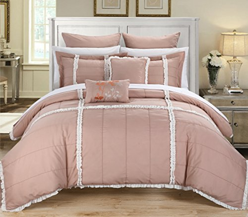 Chic Home Legend Peach King 11-Piece Bedding Comforter Set, Cozy And Elegant front-908927