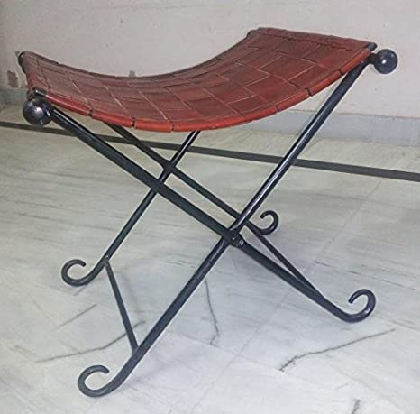 Sedia in pelle marrone Sedia in pelle Retro industriale Mobili Home Decor
