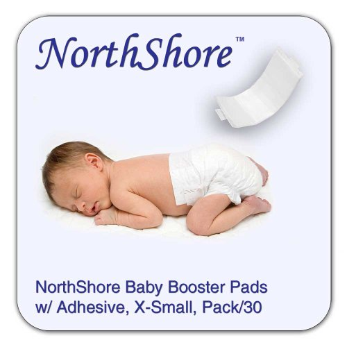 NorthShore Disposable Baby Diaper Doubler w/ Adhesive, X-Small, 30