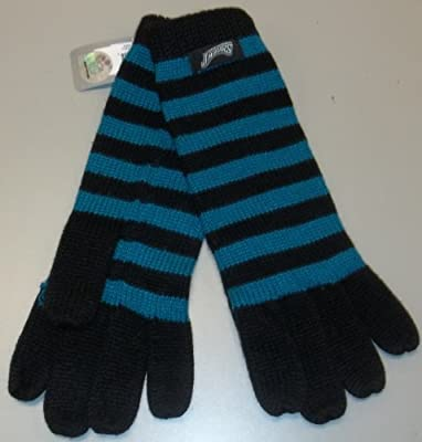 Jacksonville Jaguars Women's Striped Knit Gloves by Reebok