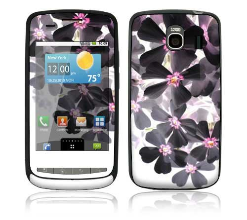 Asian Flower Paint Design Protective Skin Decal Sticker for LG Vortex Cell Phone