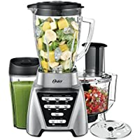 Oster Pro 1200 2-in-1 Blender with Food Processor Attachment & XL Personal Blending Cup (Silver)