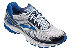Brooks Mens Adrenaline GTS 13 8.5 N US White/Obsidian/Black/Olympic/Silver by Brooks