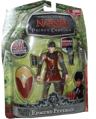 Buy Low Price Jakks Pacific Disney Pictures The Chronicles of Narnia Prince Caspian 6.5 Inch Tall Action Figure – Edmund Pevensie with Over 20 Points of Articulation Plus Removable Sword, Shield and Armor (B001PLMQO6)