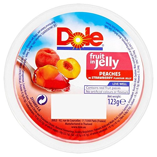 Dole Fruit In Jelly - Peaches In Strawberry Jelly (123G)