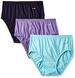 Lovable Women's Cotton Brief (Pack of 3) (HIP N HEP RGL_Assorted_Small)