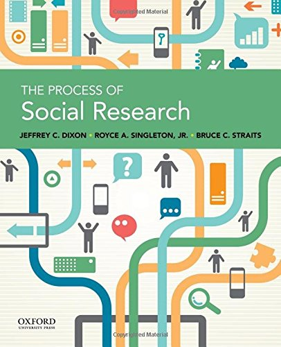 The Process of Social Research, by Jeffrey C. Dixon, Royce A. Singleton, Bruce C. Straits