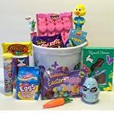 Egg-cellent Candy Filled Easter Gift Basket for Boys or Girls by Easter Basket