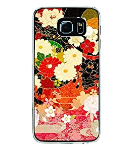 Flower Pattern 2D Hard Polycarbonate Designer Back Case Cover for Samsung Galaxy S6 G920I :: Samsung Galaxy G9200 G9208 G9208/SS G9209 G920A G920F G920FD G920S G920T