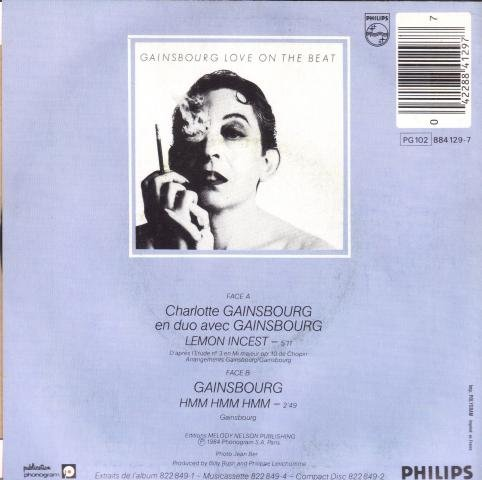 Original album cover of Lemon Incest by Charlotte & Gainsbourg