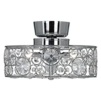 Possini Euro Design Crystal 10 Quot Round Ceiling Fan Light