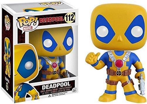 Funko - Figurine Disney Marvel - Deadpool Yellow Costum Exclu Pop 10Cm