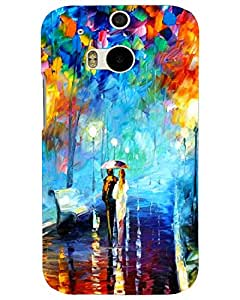 MobileGabbar HTC One M8 Back Cover Printed Designer Hard Case