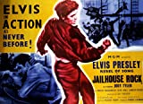 Jailhouse Rock Huge Film PAPER POSTER measures approximately 100x70 cm Greatest Films Collection Directed by Richard Thorpe. Starring Elvis Presley, Dean Jones, Judy Tyler. Crime, Drama, Music.