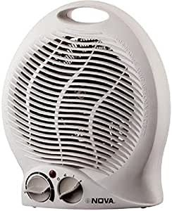 Nova Compact NH-1202/00 1000-Watt Blower Elegant Fan Room Heater (White)
