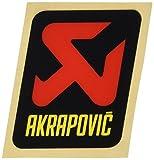 AKRAPOVIC(アクラポヴィッチ) オプションパーツ ポリ耐熱ステッカー(縦) [60mm×57mm] (カーボンエンドキャップ部用) P-VST3PO