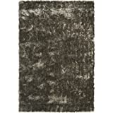 Safavieh Shag Collection SG511-7575 Silver Shag Area Rug, 4-Feet by 6-Feet