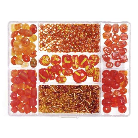 Darice® Jewelry Designer Big Value Glass Bead Box Assortment - Orange