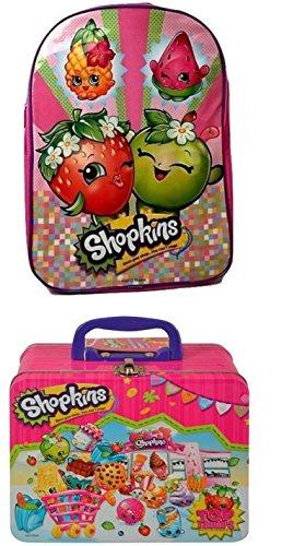 Kids Back to School Pre-school Elementary Girls Backpack Shopkins Radz (May Vary) Lunch Box Bundle Mega Season 5 Toy Figure 2 Piece (Homemade Costumes Tin Man)