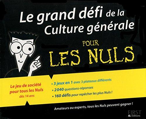 Le grand défi de la Culture générale pour les Nuls, 2e
