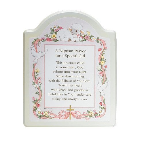 "Abbey Press ""Baptism Prayer"" Plaque, 8 x 10"", Pink"