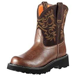Ariat Women\'s Fat Cowgirl Boot Round Toe Brown 9 M US