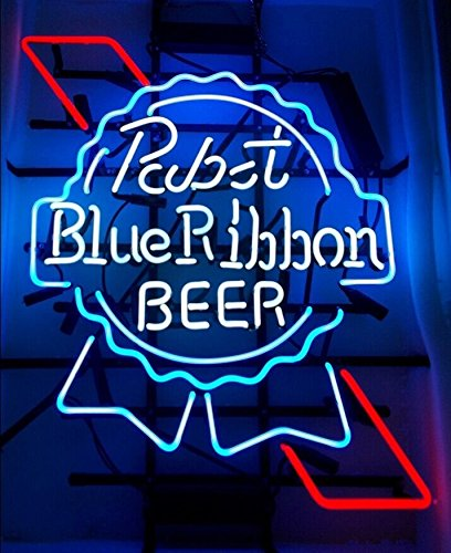 pabst-blue-ribbon-beer-handcrafted-real-glass-neon-light-sign19x15