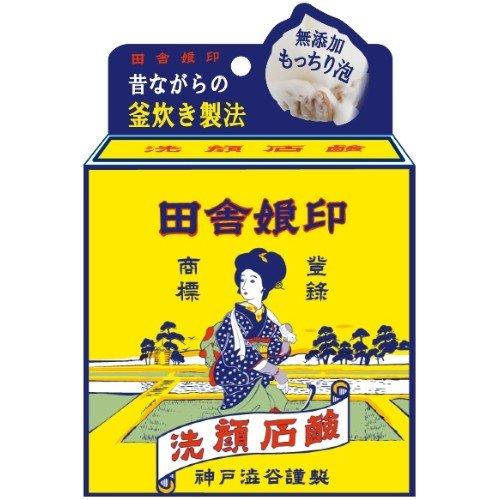 渋谷油脂 田舎娘印 洗顔石鹸 100g