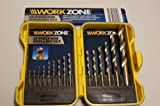 WORKZONE 15 PIECE HSS DRILL BIT SET WITH CARRY CASE