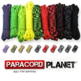 Paracord Planet 550lb Type III Paracord Combo Crafting Kits with Buckles (ZOMBIE)