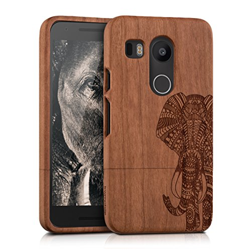 kwmobile-natural-wood-case-with-design-elephant-pattern-for-the-lg-google-nexus-5x-in-light-brown