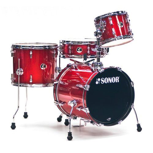 Sonor Sse 12 Bop C1 Rgs 4-Piece Bop Drum Set Shell Pack In Red Galaxy Sparkle