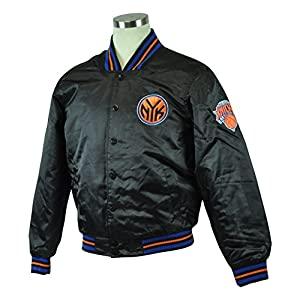 NBA Licensed New York Knicks Satin Jacket Embroidered Logo Basketball Black by JH Distributors