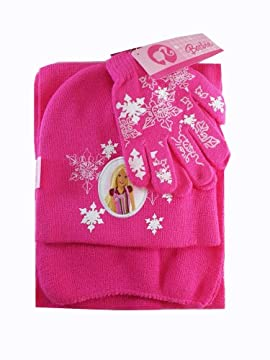 Barbie 3pc Cold Wear - Girls Scarf and Gloves