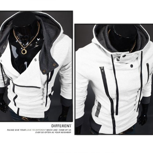 Amoin Men Casual Fashion Zipper Slim Fit Hoodies Jackets Coats Amazon com Cottory Men s