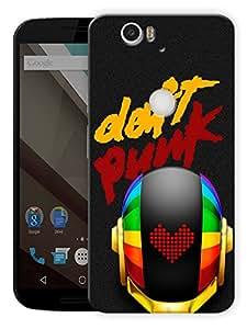 "Daft Punk Techno Printed Designer Mobile Back Cover For ""Google Nexus 6 Plus"" By Humor Gang (3D, Matte Finish, Premium Quality, Protective Snap On Slim Hard Phone Case, Multi Color)"
