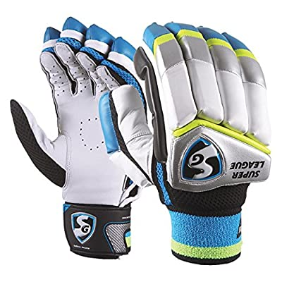 SG Super League RH Batting Gloves, Men's (Color may vary)
