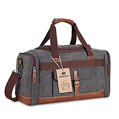 Holdall Overnight Weekend Bag Travel Duffel Bag Canvas Leather