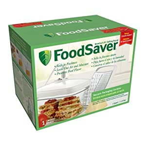 FoodSaver Rectangular Canister with Bonus Cheese Grater by FoodSaver
