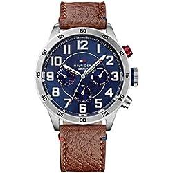 Tommy Hilfiger 1791066 - Reloj de cuarzo , correa de cuero color marrón