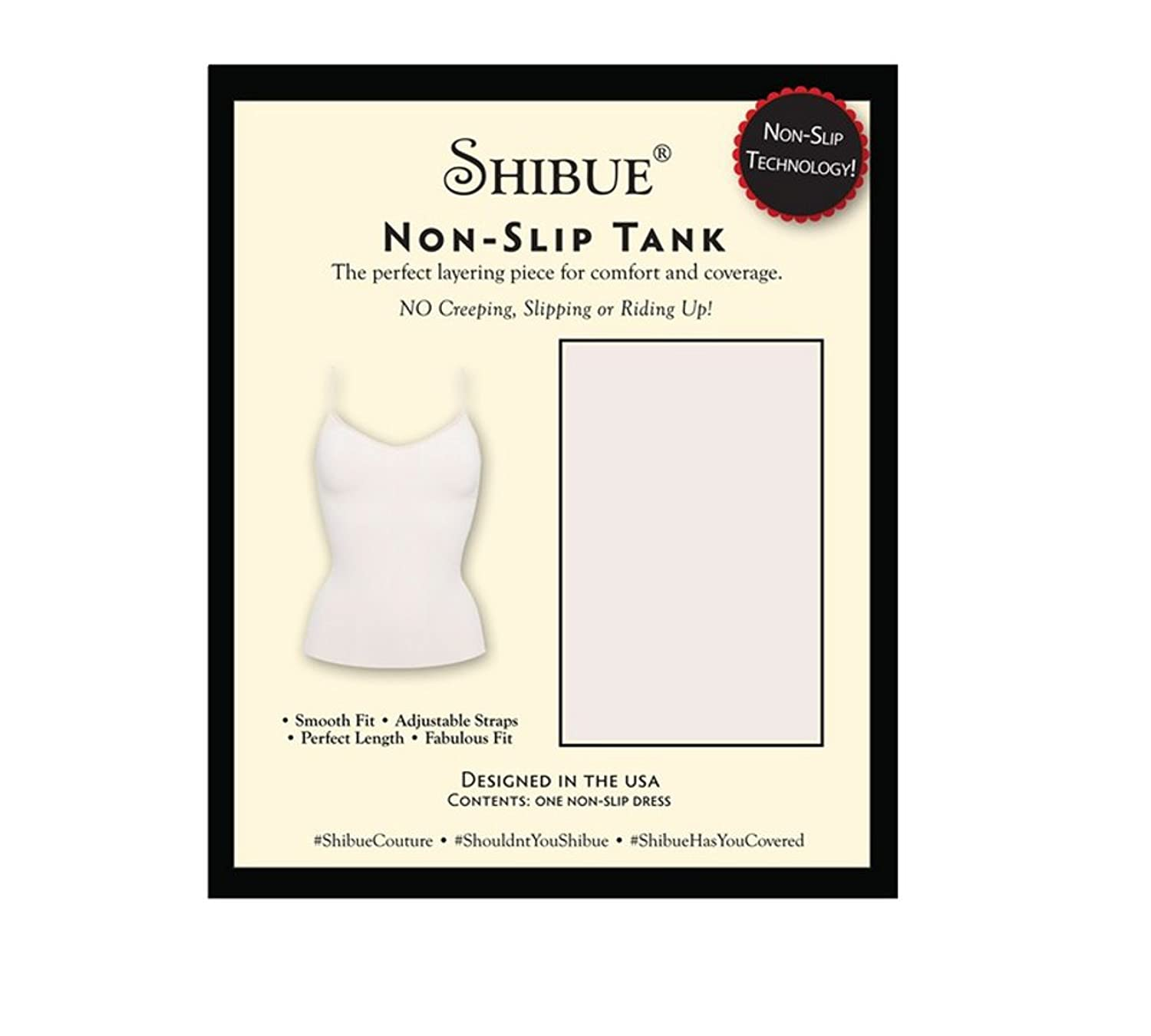 Shibue Couture Non-Slip Tank - Formendes Tank Top - Farbe Weiss, Größe S