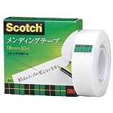 3M スコッチ メンディングテープ 18mm×30m 芯25mm 紙箱入り 810-1-18