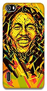 The Racoon Grip Bob Marley hard plastic printed back case / cover for Huawei Honor 6