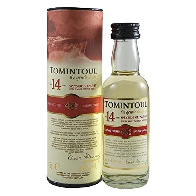 Tomintoul 14 year old Single Malt Scotch Whisky 5cl Miniature from Tomintoul