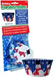 Cupcake Creations 32 Count Snowman Standard Cupcake Baking Papers
