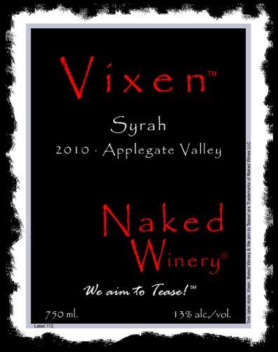 2010 Naked Winery Vixen Syrah 750 Ml