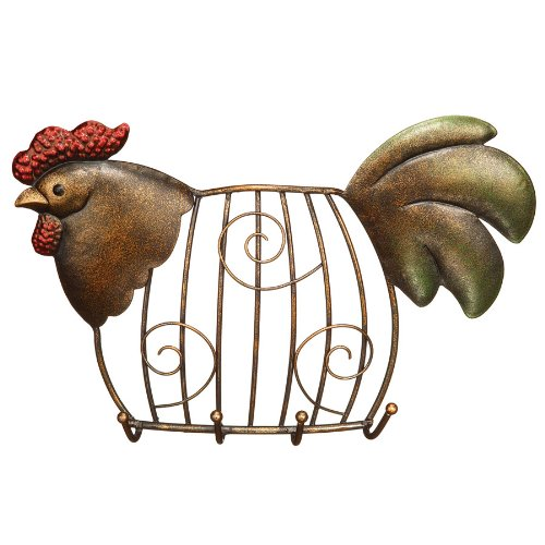 Decobreeze Home Holiday Decoration Cage Keyring Holder-Rooster